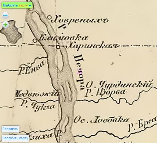Карта 1862 года